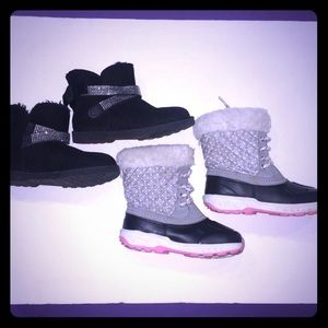 ❄️ 2 Pair Girls Winter Boots ❄️